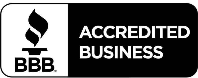 We are an accredited business with the BBB